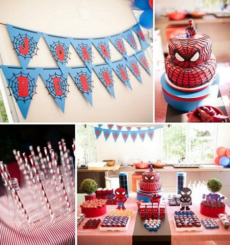 cmo decorar un cumpleaos del hombre araa en casa with ideas para cumple de nios