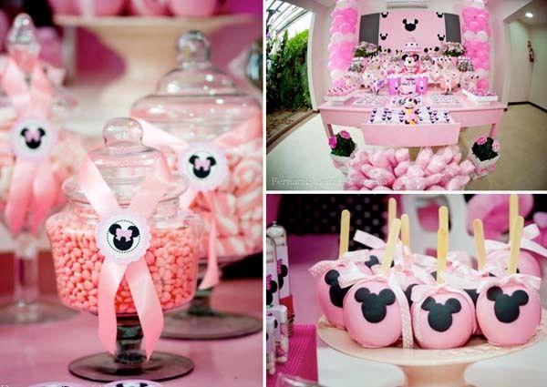 decoracin de minnie rosa para un cumpleaos