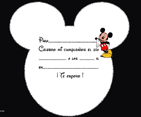 Invitaciones de cumpleaos para imprimir gratis; Mickey Mouse