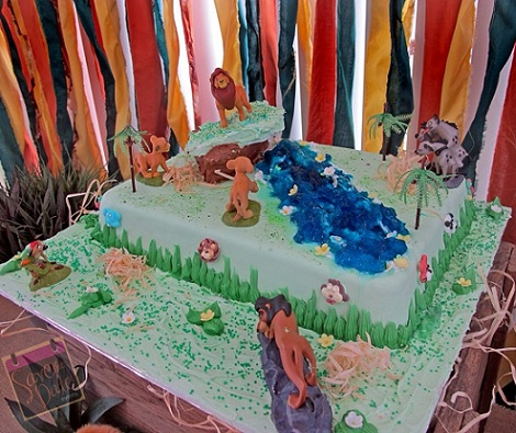 cumpleanos disney el rey leon tarta