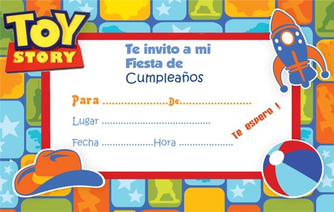 invitaciones cumple imprimir toy story