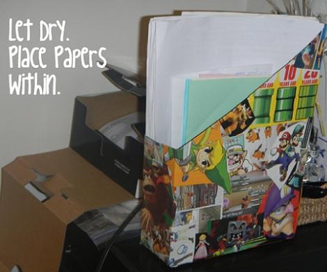 archivador papeles