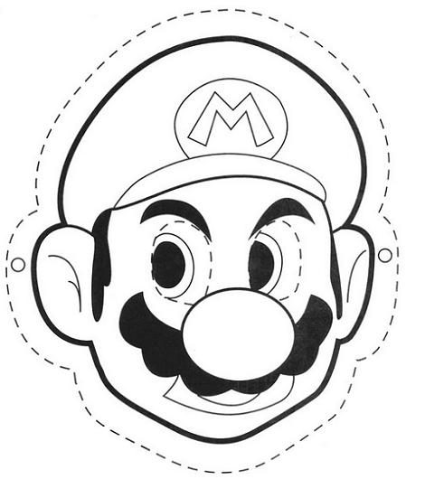 Super Mario Face Coloring Pages
