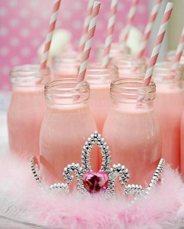 cumpleaños rosa batidos