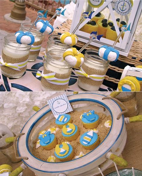 fiesta bautizo marinera dulces
