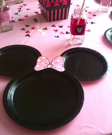 fiesta cumpleaños minnie mouse platos