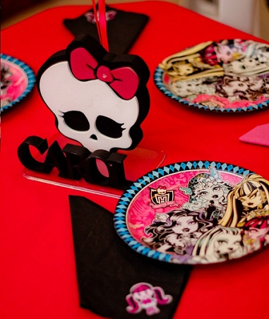 fiesta cumpleanos monster high platos