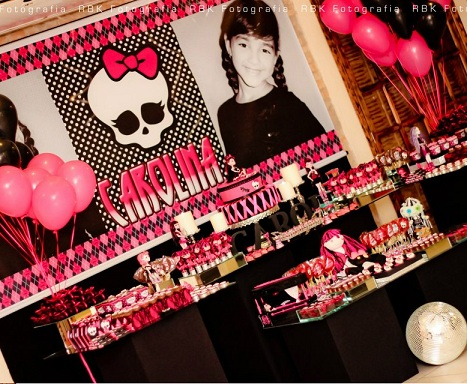 fiesta cumpleanos monster high