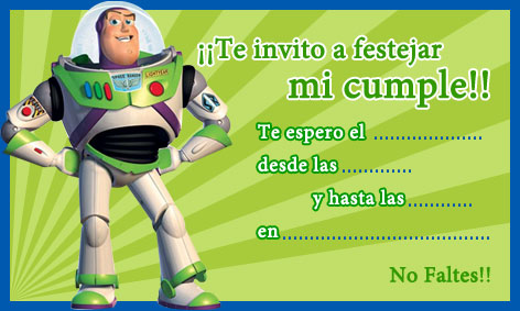Invitación Buzz Lightyear