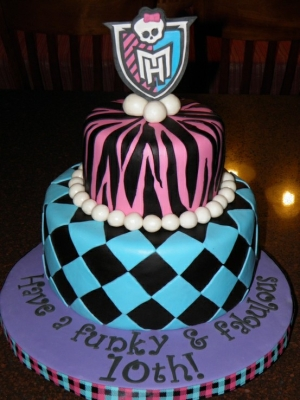 tartas monster high cebra