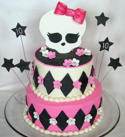 tartas monster high rombos