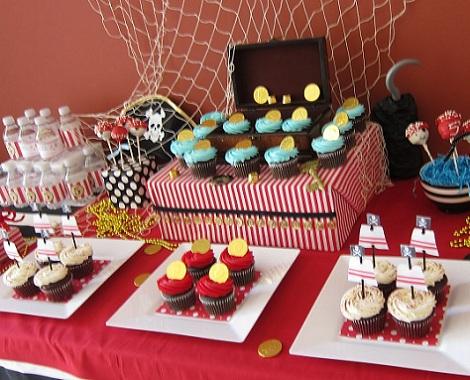 cumpleaños pirata dulces