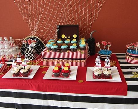 cumpleaños pirata mesa