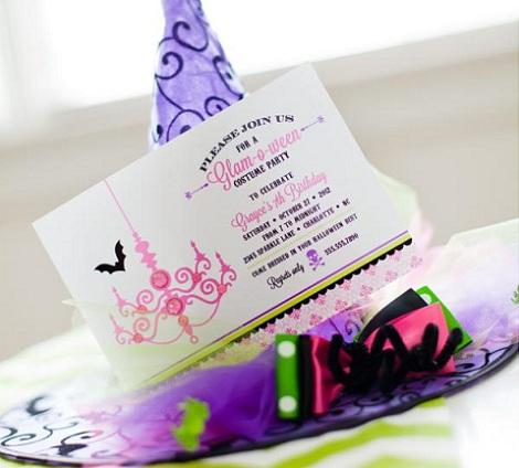 fiesta Halloween niñas invitación
