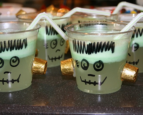 ideas halloween bebidas frankenstein