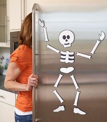 Manualidades de Halloween para niños esqueleto