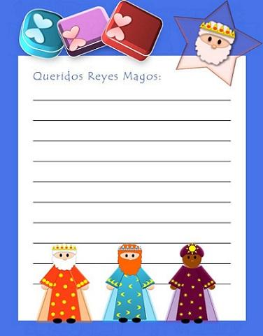 carta reyes magos colores