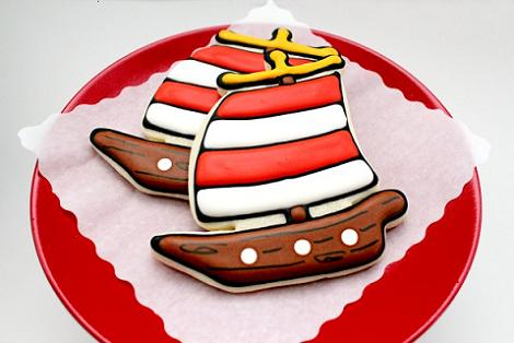 Galleta de barco pirata