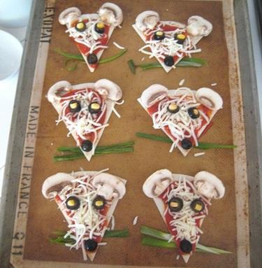 recetas infantiles pizza mouse