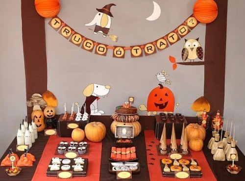Decoracion para halloween para ni os - Decoracion mesa halloween ...