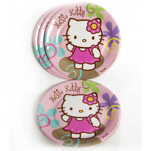 platos fiesta hello kitty