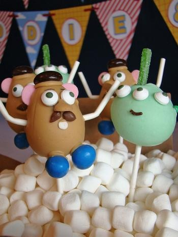 toy story cumpleanos cake pops