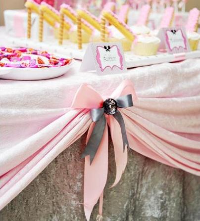 cumpleaños rosa lazo