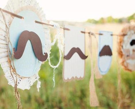 fiesta moustache guirnalda