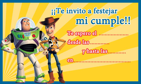 Invitación Toy Story