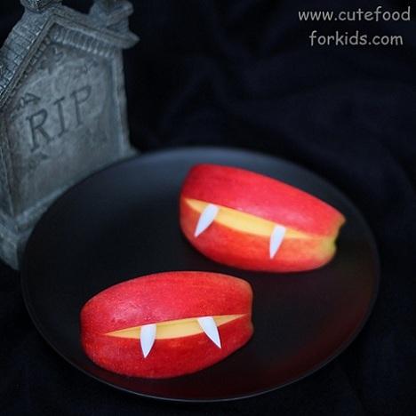 receta halloween dientes