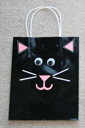 bolsas halloween gato