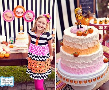 fiesta cumpleaños calabaza tarta