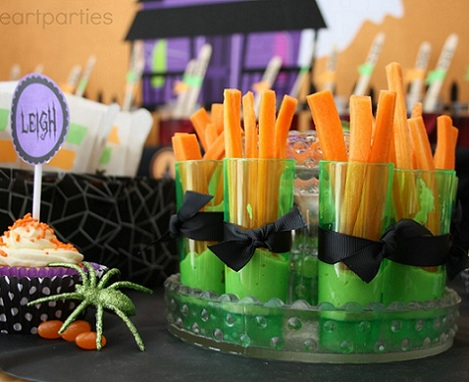 fiesta halloween niños zanahoria