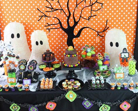 fiestas halloween mesa