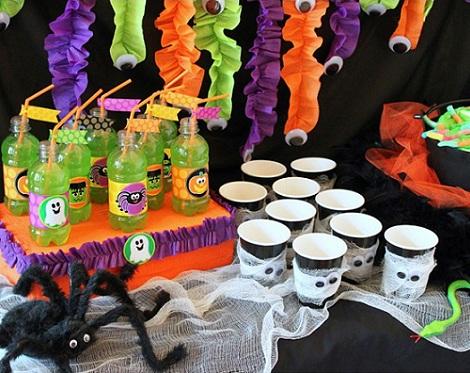 fiestas halloween vasos