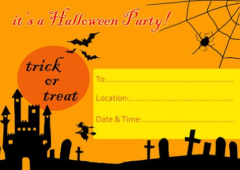 Halloween fiesta invitación