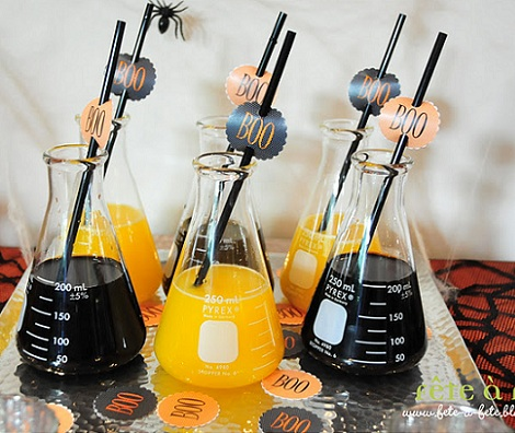 ideas halloween bebidas provetas