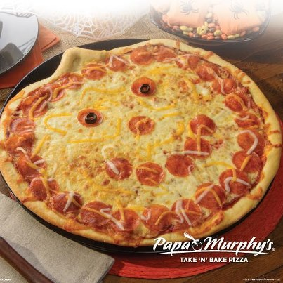recetas halloween faciles pizza