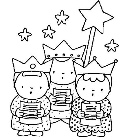 dibujos colorear navidad coro