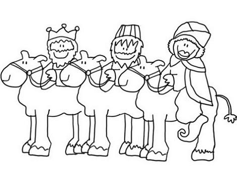 dibujos colorear navidad reyes magos