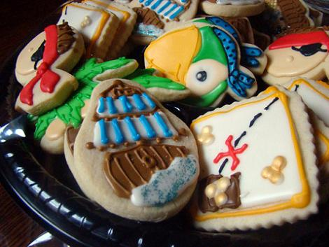 Galletas decoradas piratas