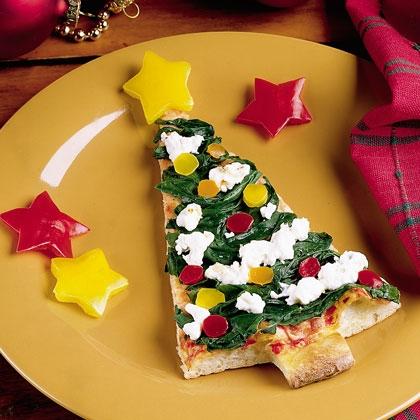recetas navidad arbol pizza