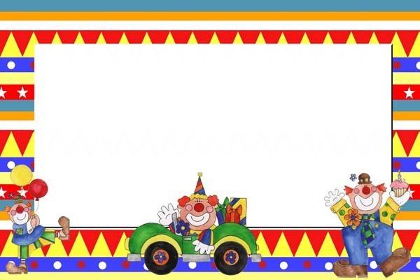 Tarjetas de payasos de cumplea os para imprimir fiestas for Regalos para fiestas de cumpleanos infantiles