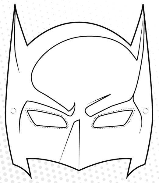Caretas de carnaval para imprimir en casa for Batman face mask template